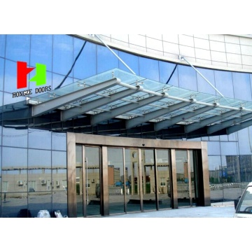 Aluminium Alloy Entrance Temperéiert Glas Sliding Door