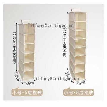 Canvas Closet Organizer Hanging Accessory Shelves