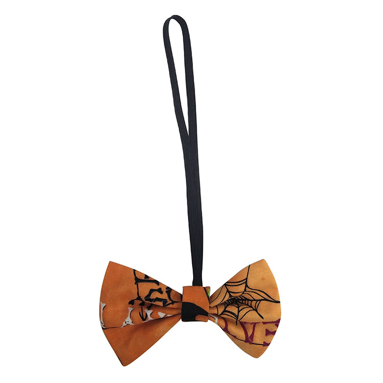 Christmas festival bow tie plaid yellow