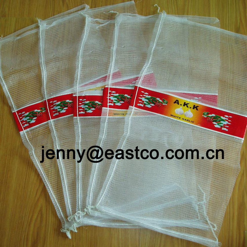 Printed Mesh Net Bag Sack with Printing Label Band