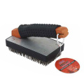 BBQ grill cleaning brush with antiskid handle