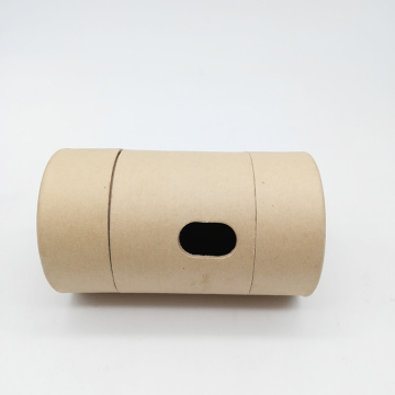 Custom Side Window Round Paper Cylinder Gift Box