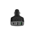 Car Charger 3 USB Ports QC 3.0 Type-C Fast Charger