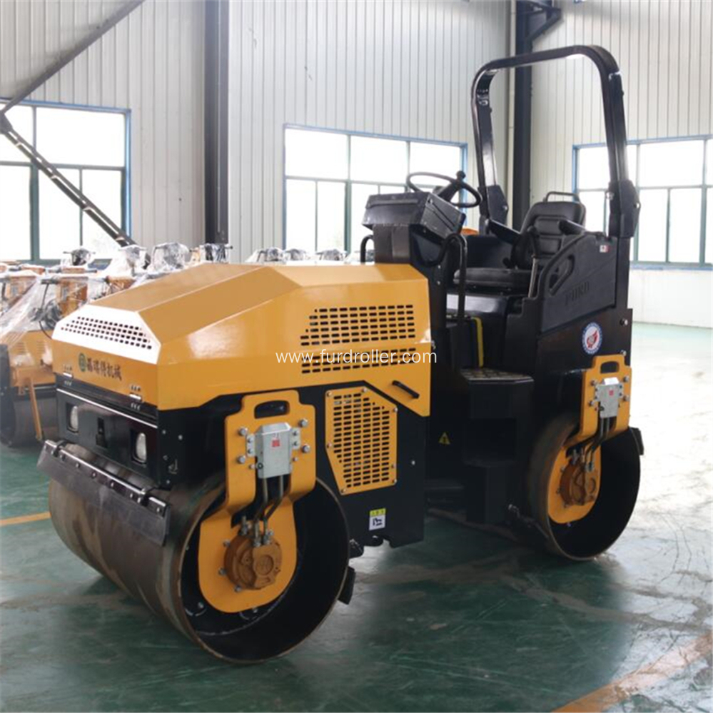 3 Ton Articulated Double Drum Vibratory Roller
