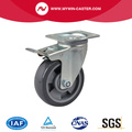 Medium 5 Inch 200Kg Plate Brake PU Caster