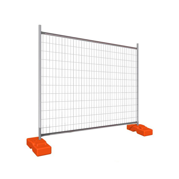 metal iron wire welded portable fencing in construction