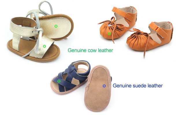 Genuine Leather Baby Sandals & Slipper