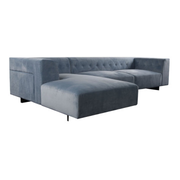Customized for Modern Pvc Sofa Modern velvet fabric living room sofa export to France Exporter
