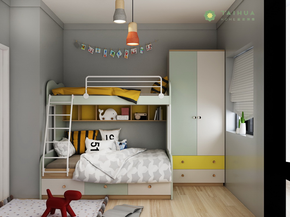 Light Green Kid's Room