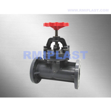 Manual Operated UPVC Globe Valve Flange End