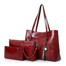 Tote lady bags 3pcs fashion outing leather bags