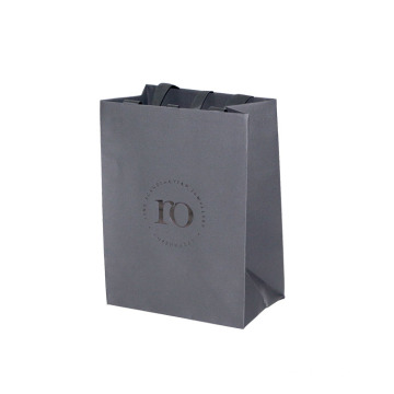 Luxury Grey Foil and Embossing Paper Bag