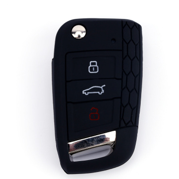 Silicone Key Case voor 3 knoppen VW Golf7