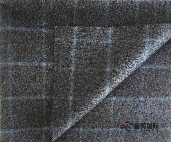 Both Sides Of Plaid 100% Wool Fabric