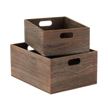 Wooden Storage Bins  Box with Handles