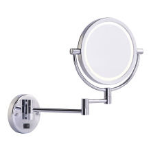 Dual- arms lighted shaving mirror