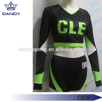 V لباس گردن Lycra Cheerleader