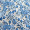 Multicolor Polyester Yarn Embroidery Fabric With Scallop