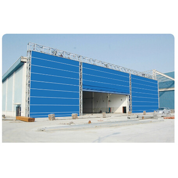 PVC Fabric Lifting Huge Folding Up Garage Door