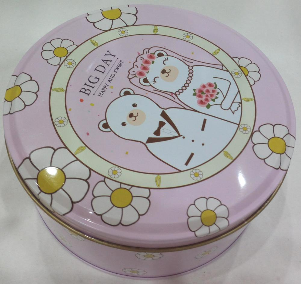 Little bear couple Chocolate Tin Box