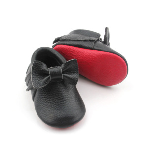 Wholesale Baby Moccasins Leather Red Bottom Shoes