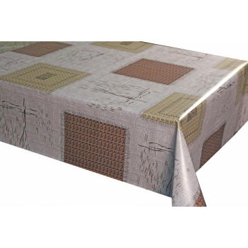 Laminated Pvc Tablecloth with Non-woven Backing