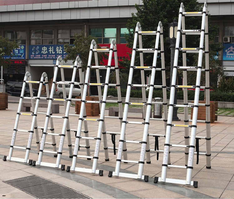 Double side aluminum telescopic ladder (11)