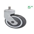 5 Inch Threaded Steam Swivel TPR PP Material Medical Caster