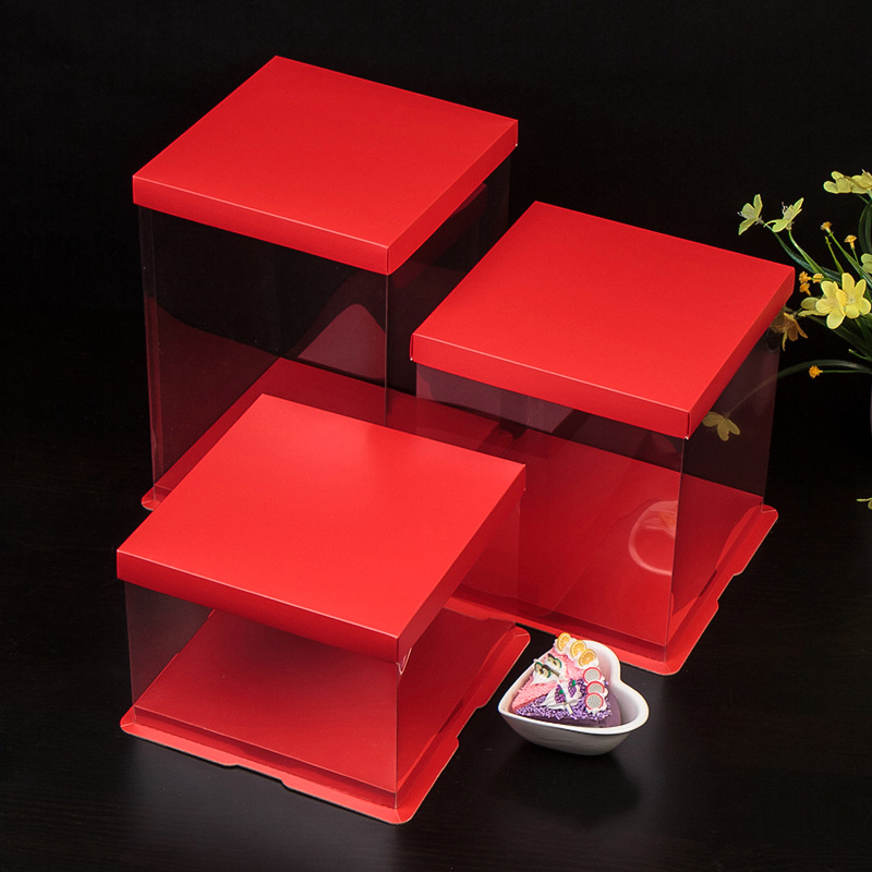 Cake box transparent packaging box