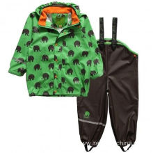 Children Waterproof PU Rain Suits For Boys
