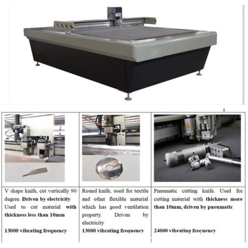 cnc oscillating knife cutter with auto feeding table