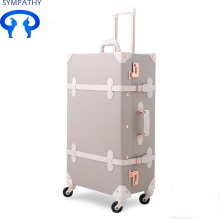 Best-Selling for PU Luggage Set Vintage suitcase fresh luggage universal wheel bar case supply to Gabon Manufacturer