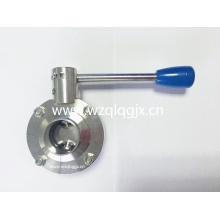 Sanitary Heavy Type Welded Butterfly Valve