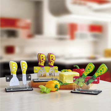 5pcs cheese set with carylic holder