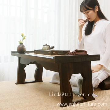 folding solid wood japanese style tea table furniture corner coffee table