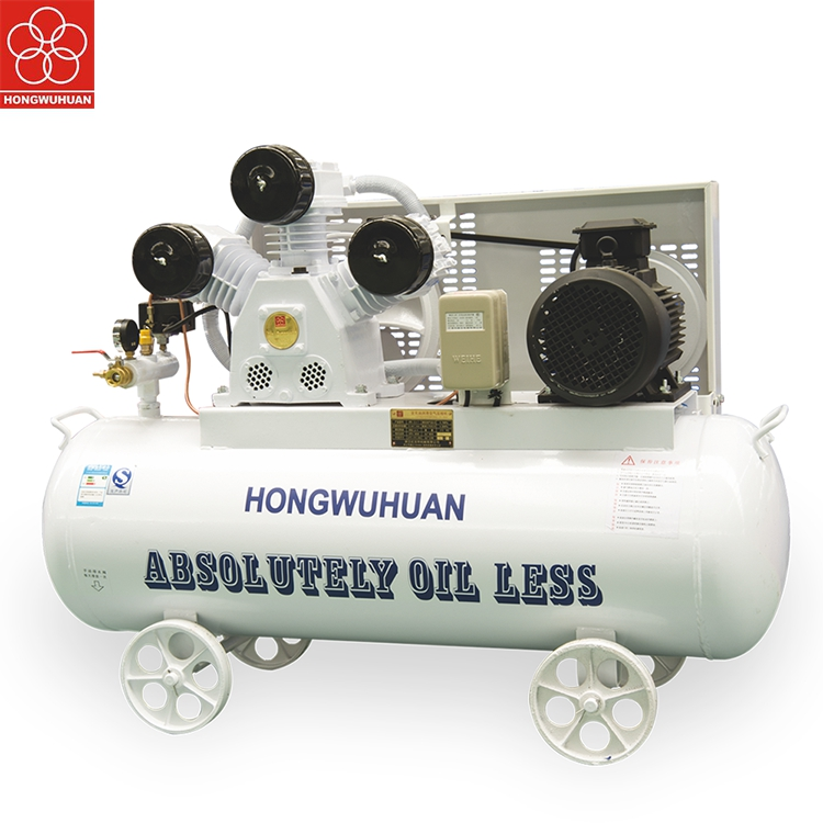 12.5bar oil-free piston air compressor for food processing