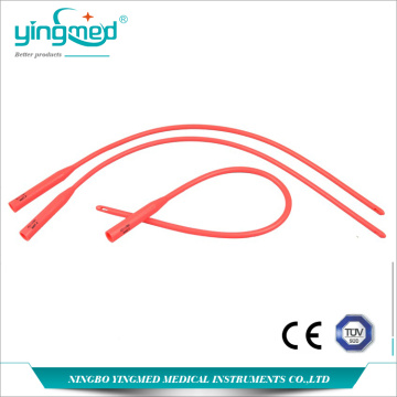 Disposable Red Latex Urethral Catheter
