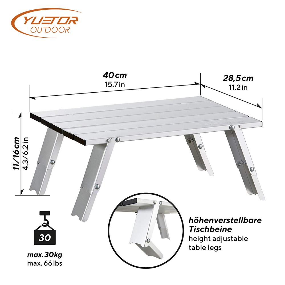 Lightweight Roll Up Aluminium Camping Table 2