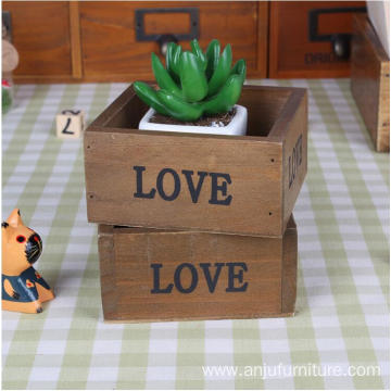 factory high quality natural gift wooden box for desk