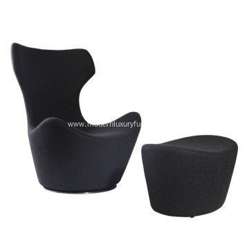 B&B Italia Fabric Grande Papilio Chair and Ottoman