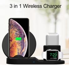 Fast 3 In 1 Wireless Charger For Mobile Phone