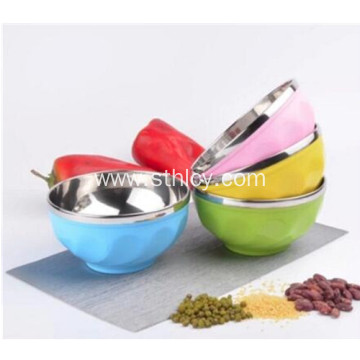 Double Wall Colorful Stainless Steel Mixing Bowls