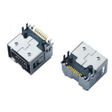 1394 9P Receptacle SMT Oblique foot  point