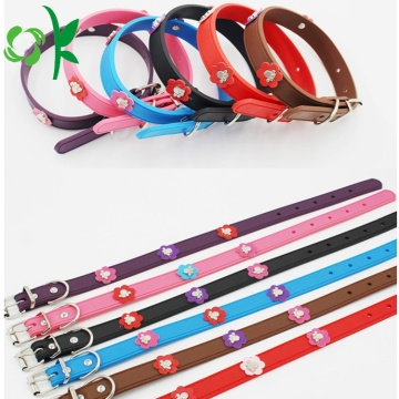 Fashion Silicone Pet Collar Flower Dog Training Collar