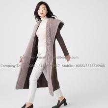 Leading for Long Wool Coat Women Water Wavy Cashmere Overcoat export to India Exporter