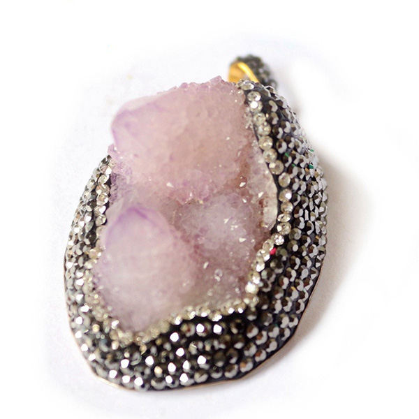 Drop Shaped Quartz Crystal Pendant