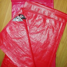 Red Waterproof PE Tarp
