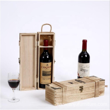 Gift wooden wine box