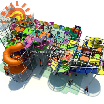 Large Indoor Equipment Playground Structures On Sale