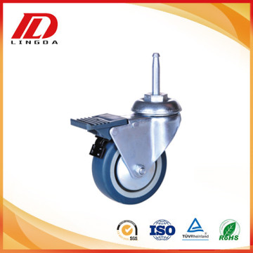 2 inch shaft caster with brake